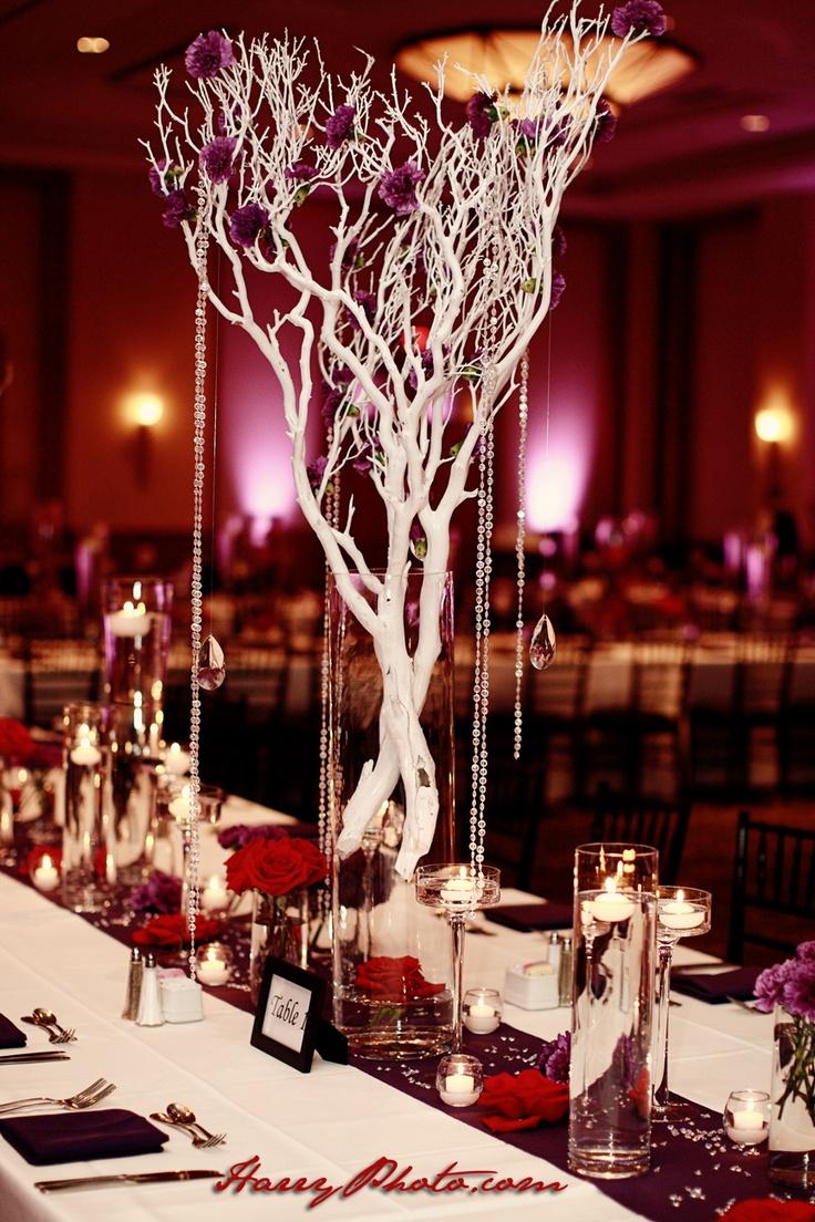 Pink and maroon wedding decor  Serena Alamillo alamillo on Pinterest