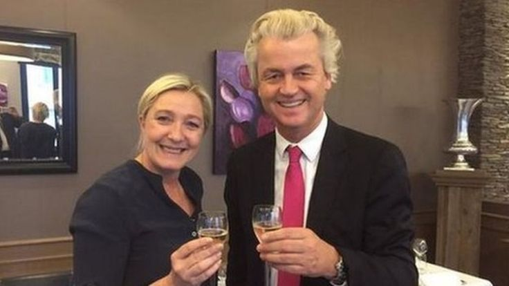 French National Front leader Marine Le Pen announces she has formed a political group of right-wing parties in the European Parliament.