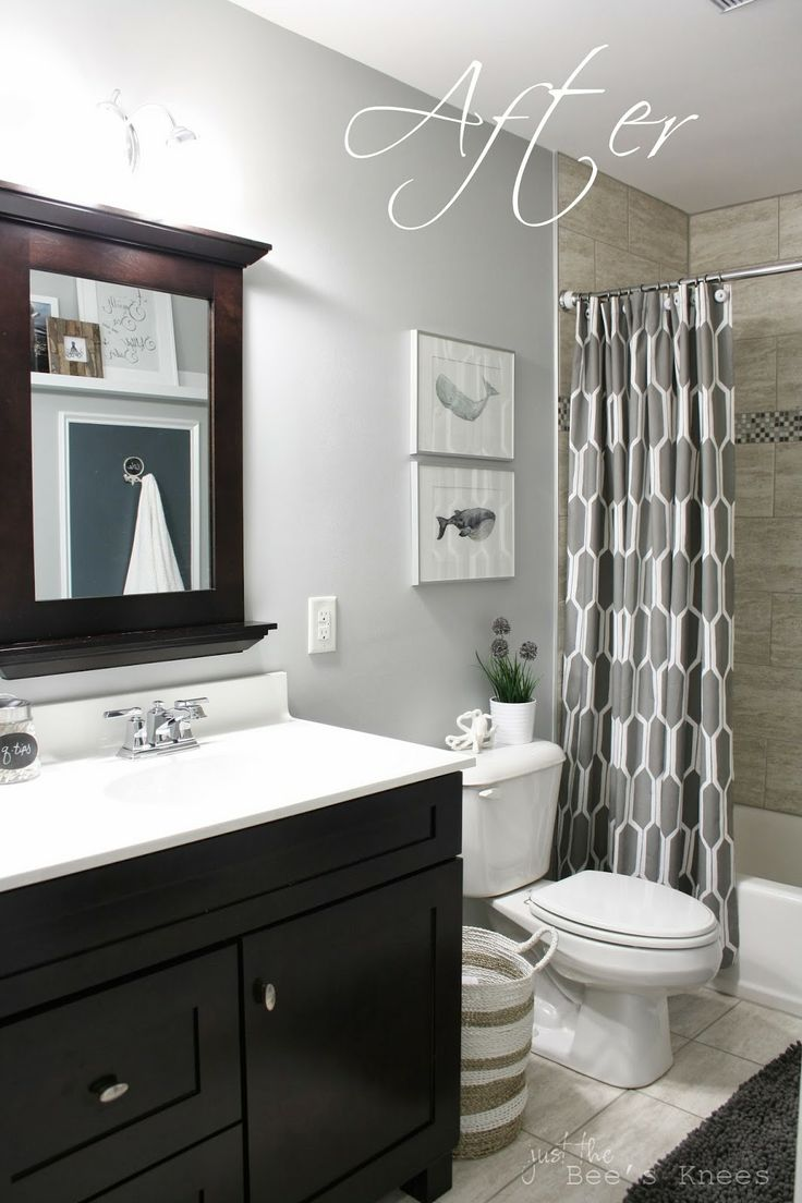 Tinsmith by Sherwin Williams wall color. This is what we are going for with the white counter tops, walnut cabinets and grayish-beige tile in the shower.