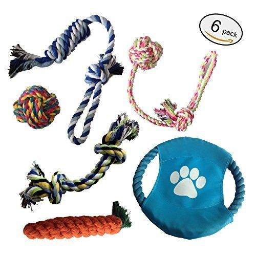 E-sports Durable Dog Toys 6 Pack Indestructible Dog Toys for Aggressive Chewers
