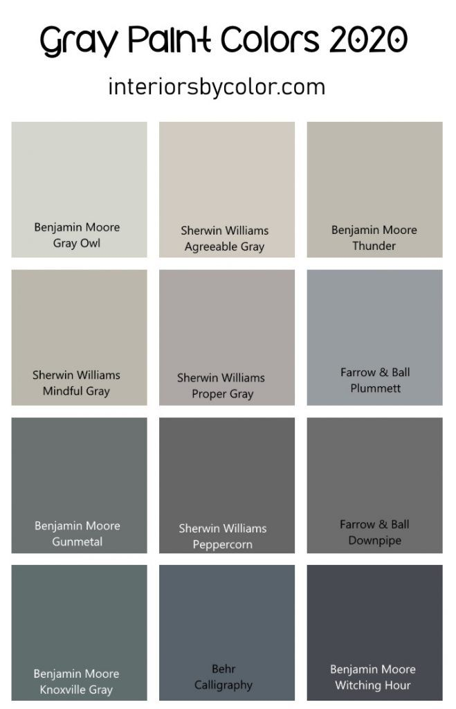 Gray Paint Colors For 2020 Interiors By Color In 2020 Grey Paint Colors Grey Paint Paint Colors