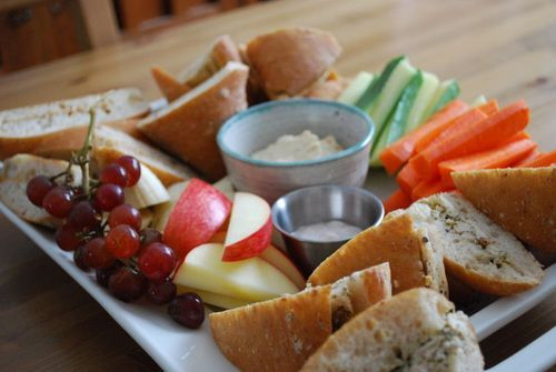 """The """"Parisian Picnic"""" - Nine Yummy Things to Platter Up (Family Bites) - fun grazing food, healthy, but still special."""