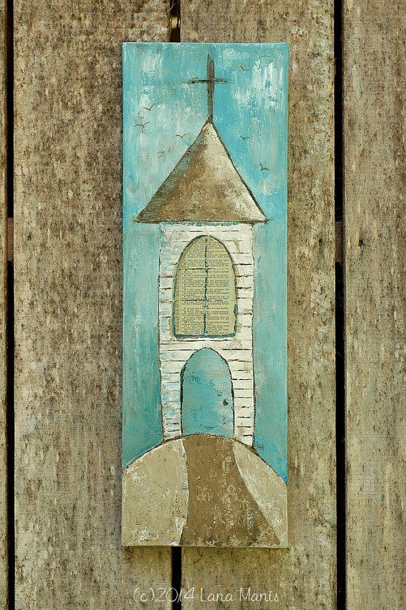 Original Acrylic Painting, Mixed Media, Church Painting, Bible Verse, Faith, Inspirational