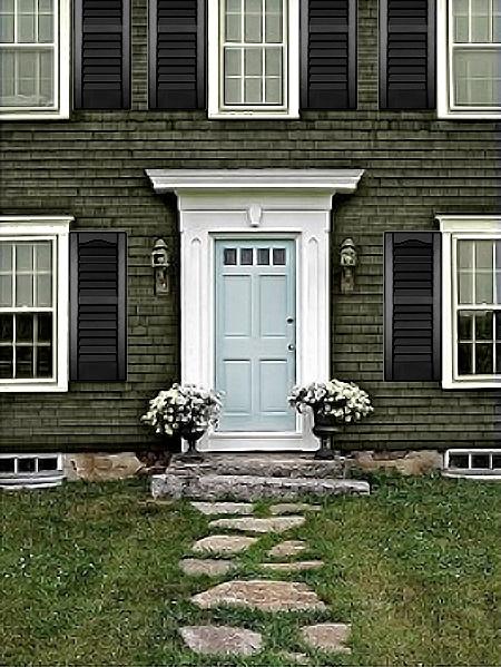 37 Best Green House Black Shutters Black Garage Doors