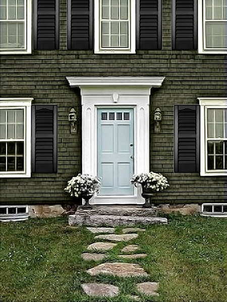 106 best images about fabulous front doors on pinterest yellow front doors red front doors - Exterior white trim paint pict ...
