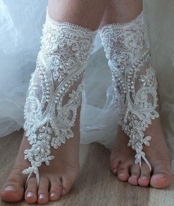 plaj ayakkabıları, Benzersiz tasarımı, gelinlik sandalet, kement sandalet, düğün gelinlik, fildişi aksesuarlar, giysisi, yaz giyim, el yapımı on Wanelo