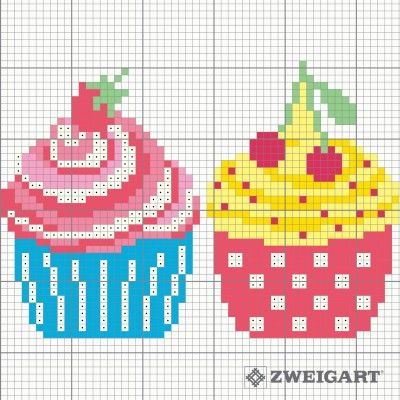 sticken-candy&sweets-cupcakes