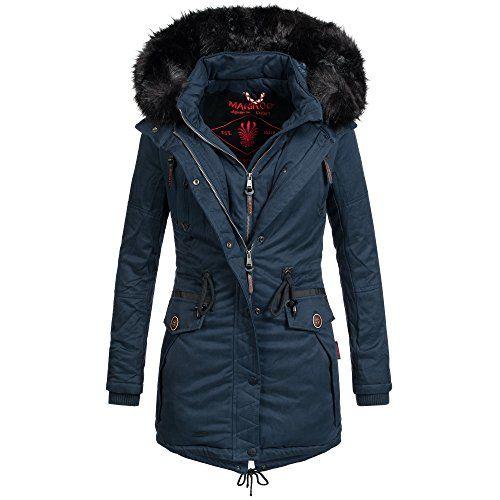 Marikoo Rose Damen Jacke Mantel Winterjacke warm gefüttert
