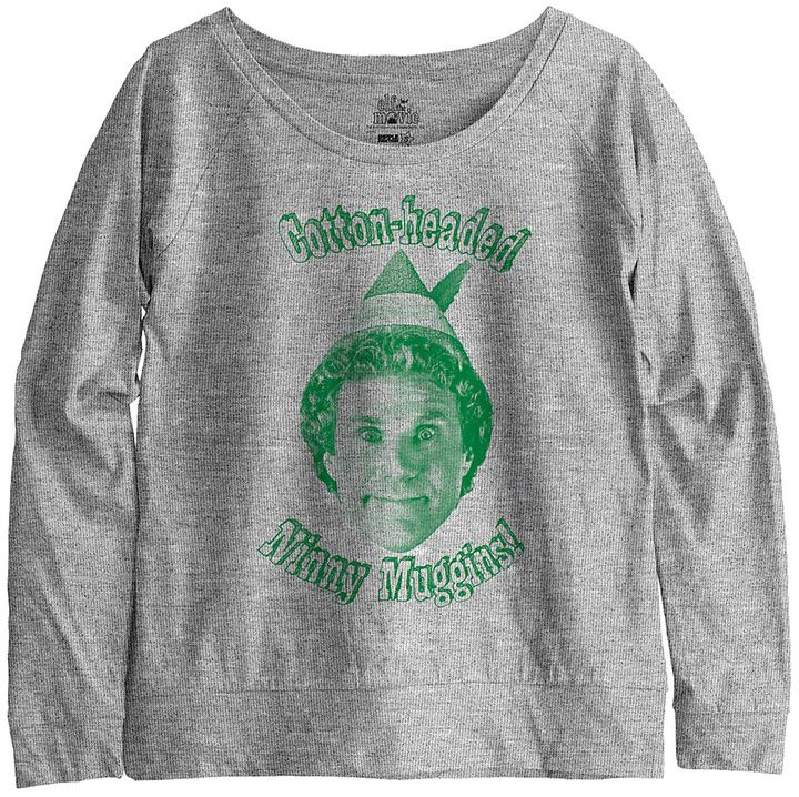Elf the Movie 'Ninny Muggins' Boatneck Sweater - Juniors