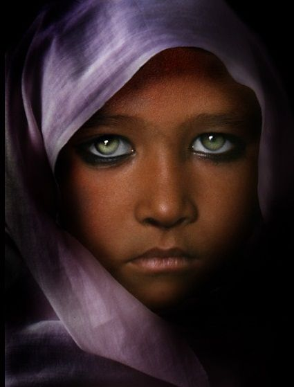 Some of the people of Afghanistan have the incredibly beautiful eyes!