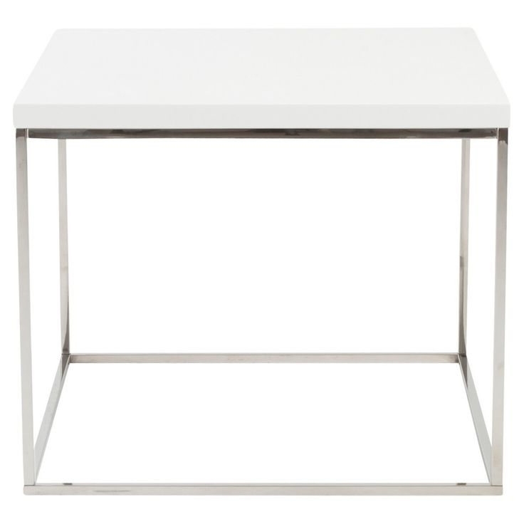 End Table White, End Table