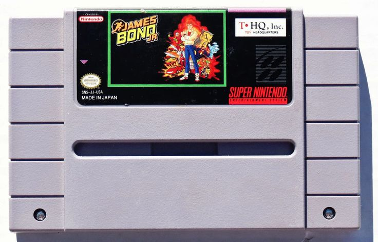James Bond Jr. Super Nintendo Entertainment System, 1992 SNES  Cart Only