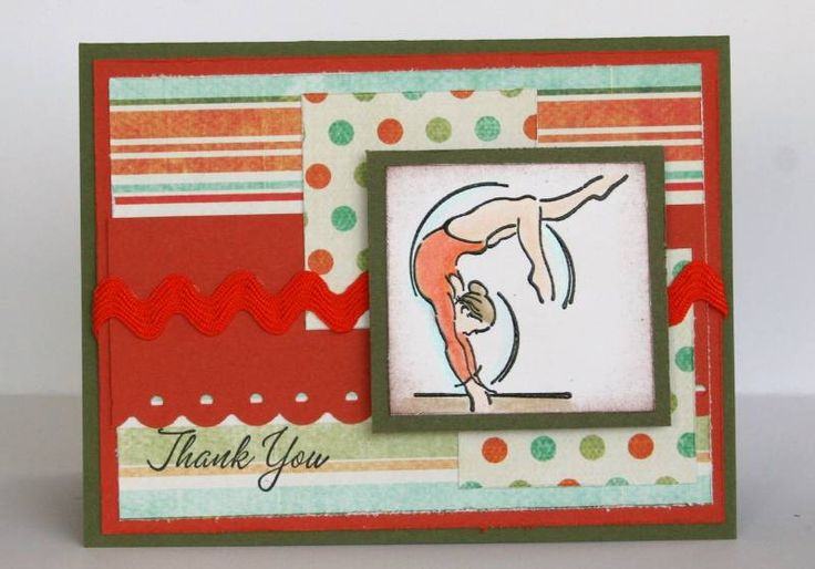 Gymnastics Ribbon Day by LaceyStephens - Cards and Paper Crafts at Splitcoaststampers