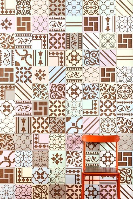 Linha Tribal da Coleção Brasiliana, criação das equipes Renata RUbim Design & Cores e Oca Brasil Revestimentos