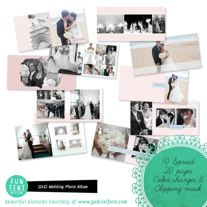 12x12 Wedding Album / Book Love is Forever - A001. $35.00, via Etsy.