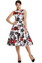 Dress 2017 плюс размер одежды Одри хепберн Цветочные халат Ретро Качели Случайные 50 s Vintage Рокабилли Платья Vestidos(China (Mainland))