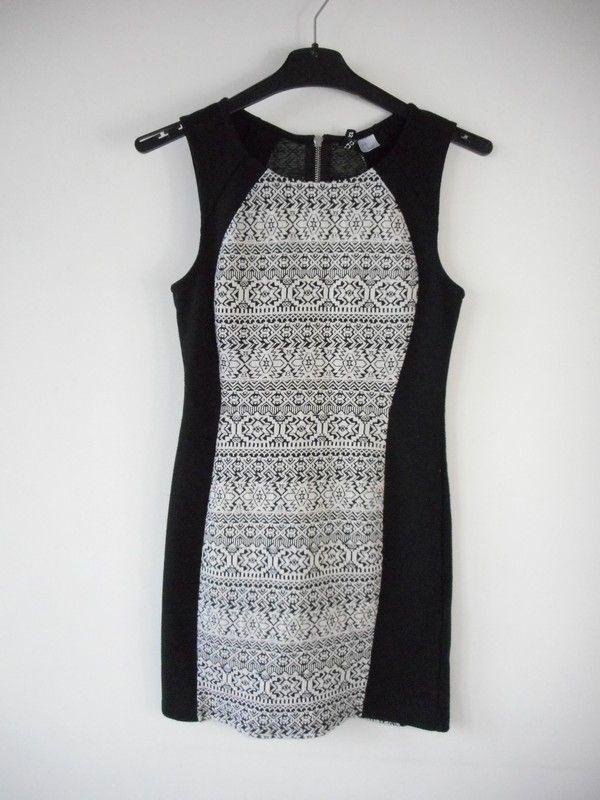 86b7ab2bcd H M sukienka wzorek dopasowana r. 38 - vinted.pl