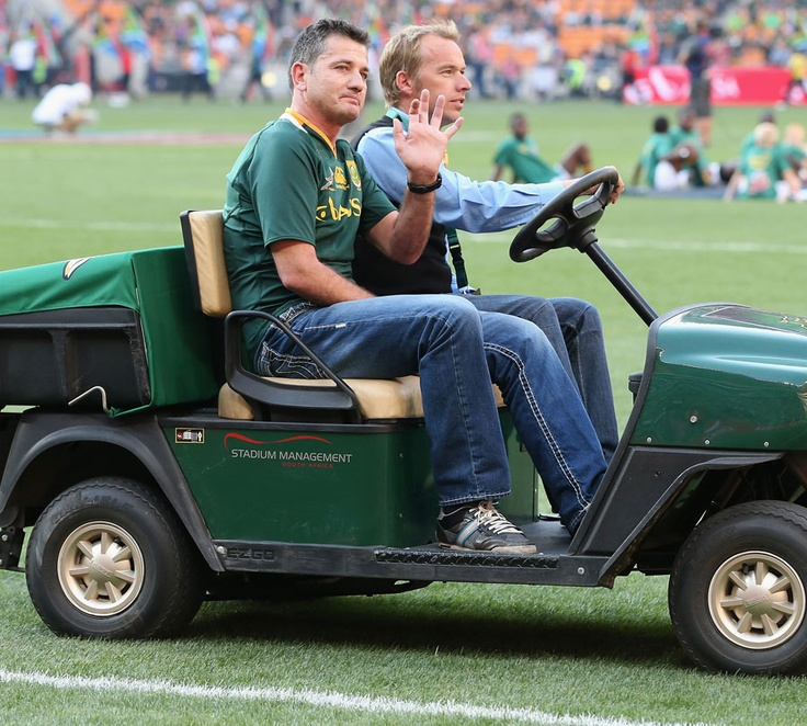An emotional moment - a standing ovation for Joost being taken around the field and cheered by thousands of fans No. 9