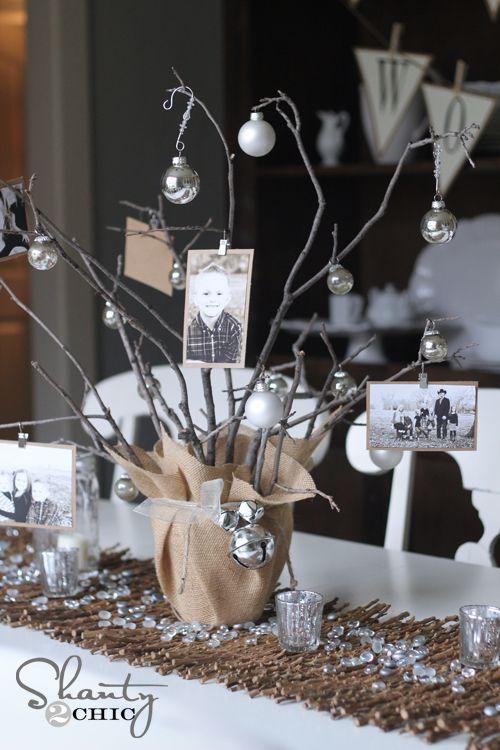 DIY Photo Tree Party Centerpiece                                                                                                                                                                                 More