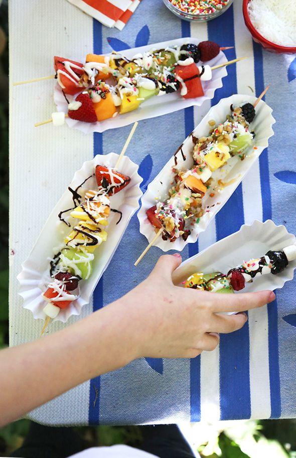 Fruit Kabob Sundaes!