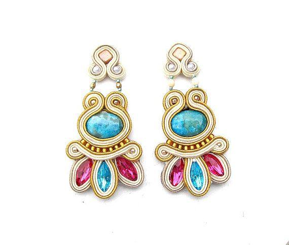 Dangle Earrings High Fashion Soutache Earrings by StudioGianna