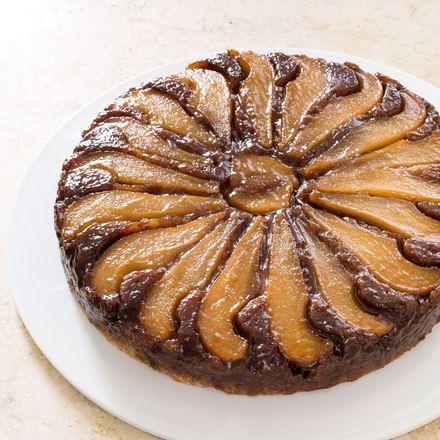 Pear-Walnut Upside-Down Cake