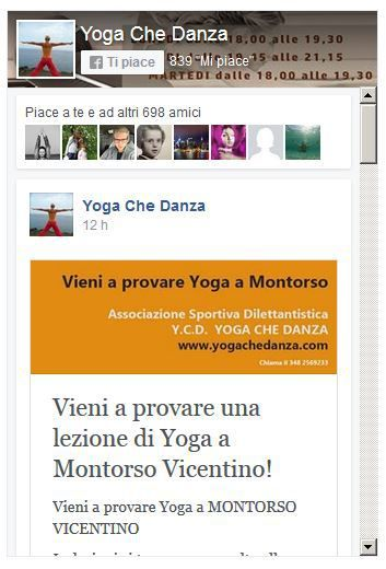 metti mi piace a yogaCheDanza facebook