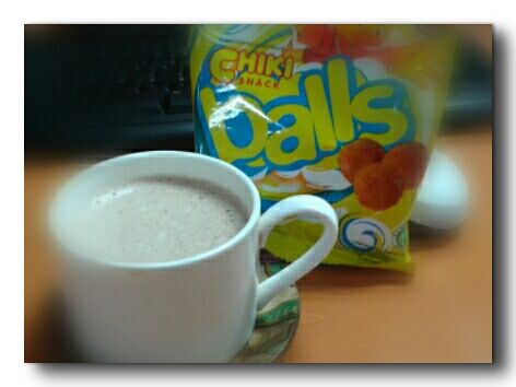 cappuccino and cheese chiki balls?..OK lah!!