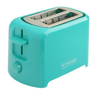 KERRI & ALEX: We want a Robin's Egg/Tiffany blue toaster! -we could also just get a normal silver one... It doesn't have to be this one - but this would work ($8.00)