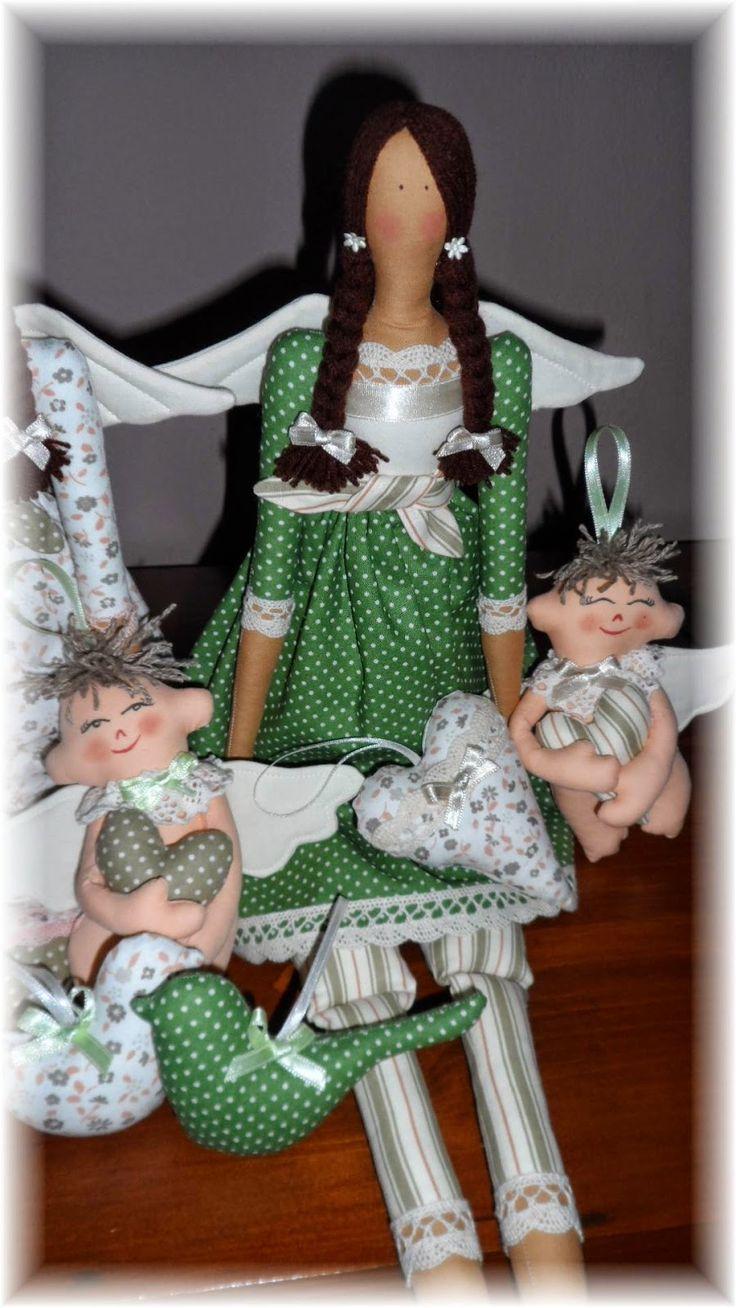 šité andělky