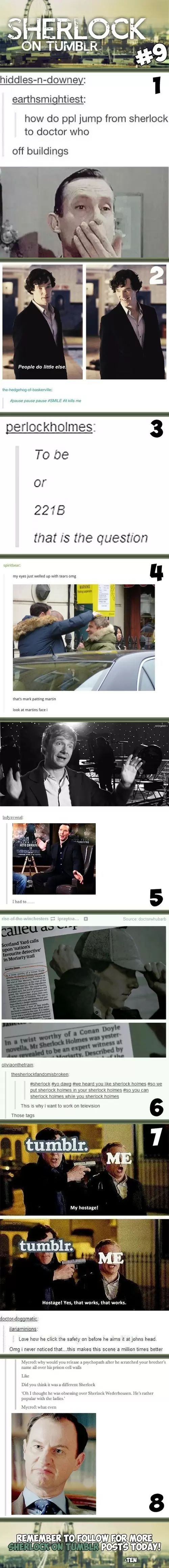 Sherlock On Tumblr #9. The last one got me.