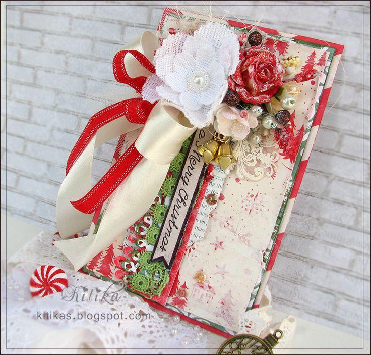 Пожелания счастья в новом году: 2 белоснежно-красные открытки. Sending you heartfelt wishes of Happiness for a fabulous 2015!