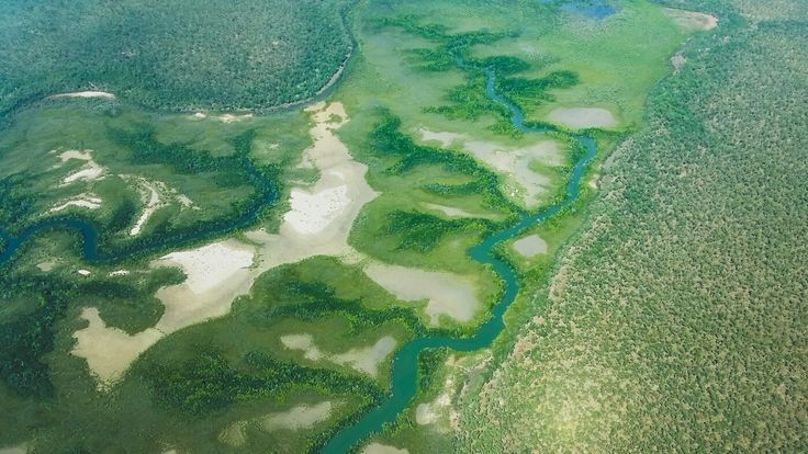 Aerial Photography on route to Bamurru Plains, Northern Territory