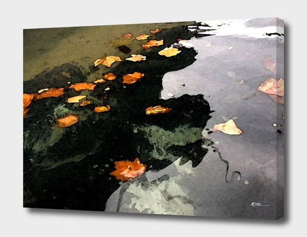 Discover «Floating Leaves», Limited Edition Canvas Print by Megan Bonnici - From $59 - Curioos
