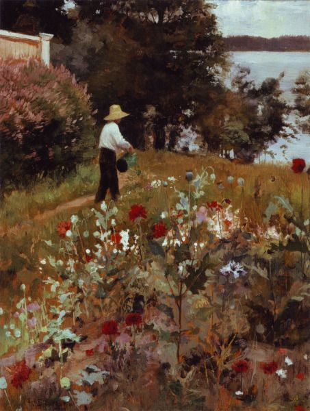 ALBERT EDELFELT The Garden at Haikko / Haikon Puutarhasta (1887)
