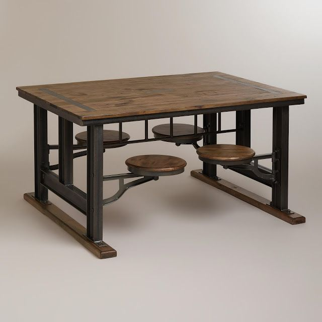 COST PLUS WORLD MARKET GALVIN CAFETERIA TABLE
