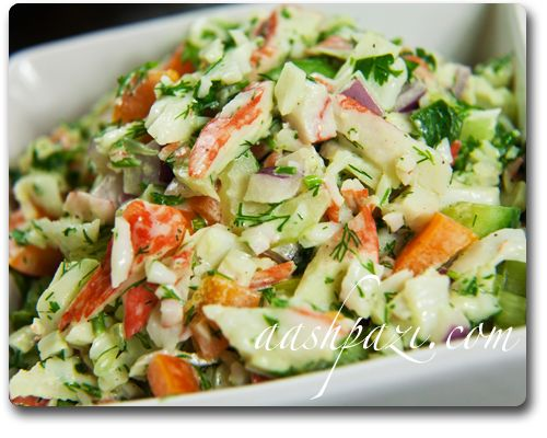 Crab Salad (Imitation Crab and Cucumber)