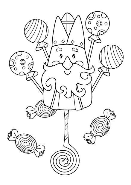 coloriage St-Nicolas