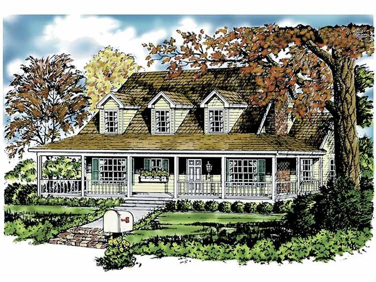 1000 images about house plans on pinterest square feet for House plans with loft and wrap around porch