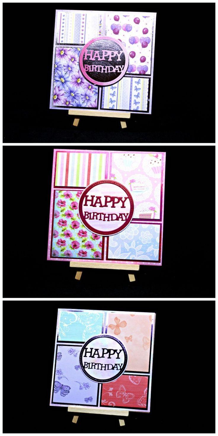 Geburtstagskarten basteln mit Papier