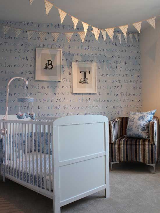 Bebek Odaları İçin Duvar Kağıdı Modelleri