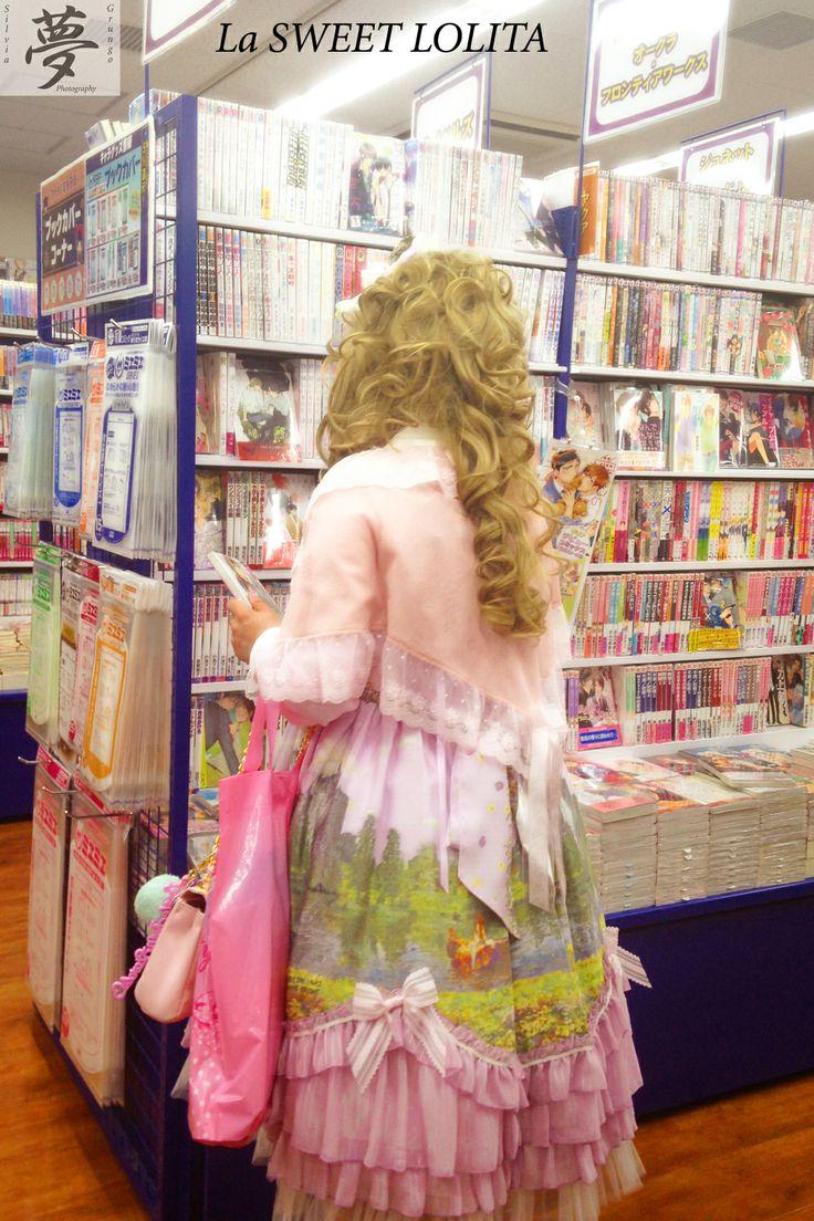 Sweet Lolita in a manga shop  #japan #tokyo #manga