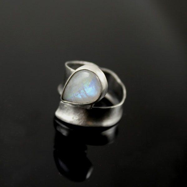moon,луна,кольцо с лунным камнем - Кольца - Ювелирные изделия в ArsNeo