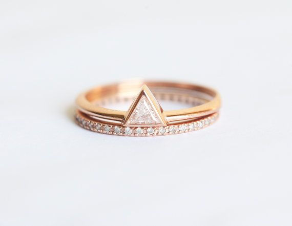 17 Best ideas about Triangle Engagement Ring on Pinterest | 3 carat engagement  ring, 3 carat diamond ring and 3 carat