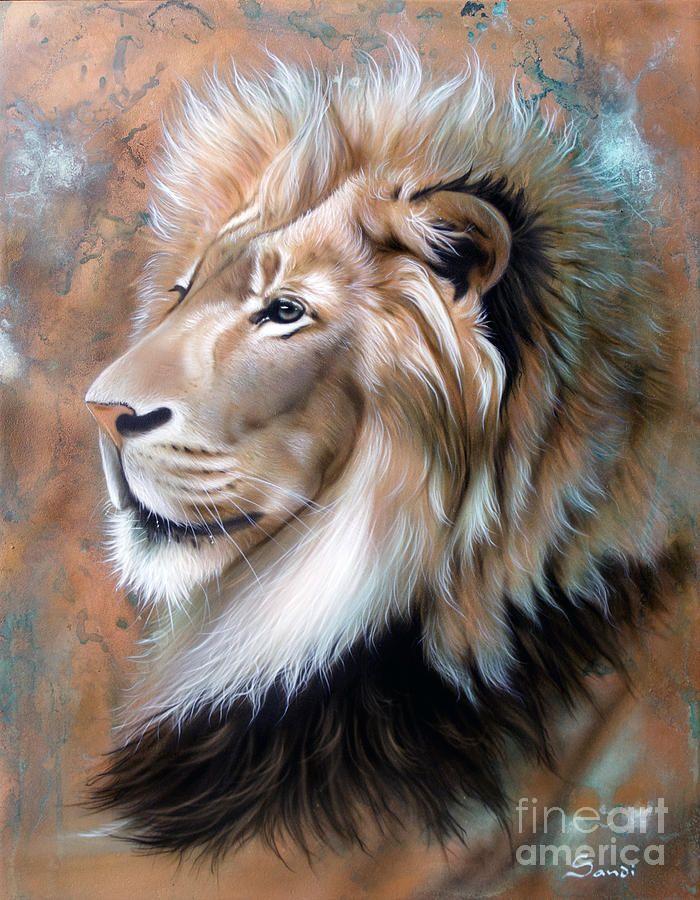 Copper King - Lion Painting  - Copper King - Lion Fine Art Print