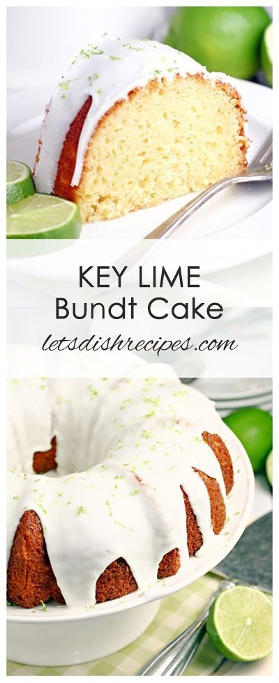 Key Lime Bundt Cake Recipe | A white cake mix serves as the base for this moist, tangy key lime bundt cake. Don't forget the zesty, citrus infused key lime glaze!