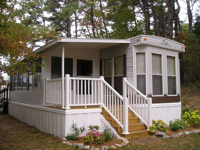 Sun Room Bump Out To Add Living Space To Vintage Mobile Home Park Model Homes Pinterest