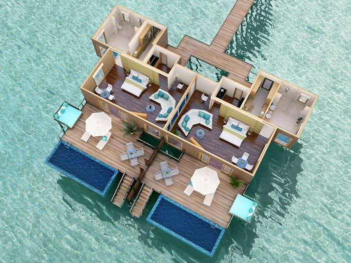 maldives beach bungalow design house floor plans | overwater bungalow floor plan - Google Search | Home ...