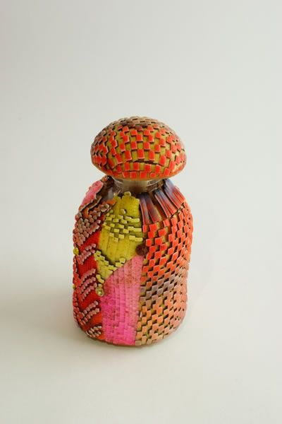 Polymer clay Bottle of Hope by Alexandra Karpova (AK Accessories) from Houston Polymer Clay Guild