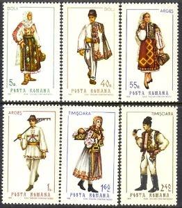 1969 Regional Costumes Smoking Pipe Dolj Arges Timisoara Romania MI 2739 MNH | eBay